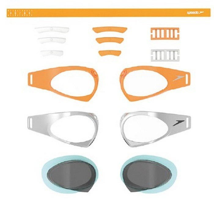 Speedo Okulary Fastskin Prime Mirror Orange